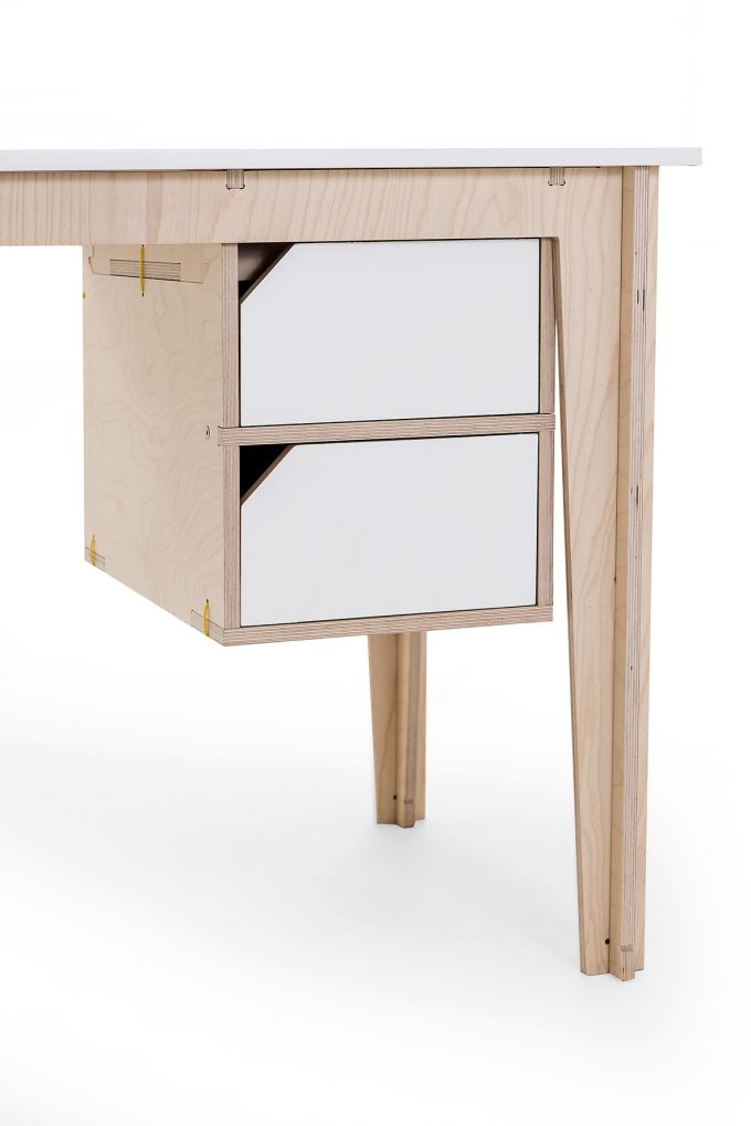 spaas-flatpack-desk-double-drawer